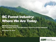 BC Forest Industry Where We Are Today