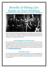 Benefits of Hiring Live Bands on Your Wedding