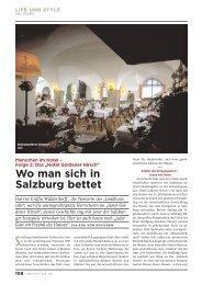 Wo man sich in Salzburg bettet