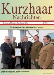 Österreichischer Kurzhaar-Klub 2/2011 - Österreichische Kurzhaar ...