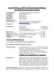 Ausschreibung 2. EWU-D-Turnier Langenbrügge am 20.09.09 auf ...