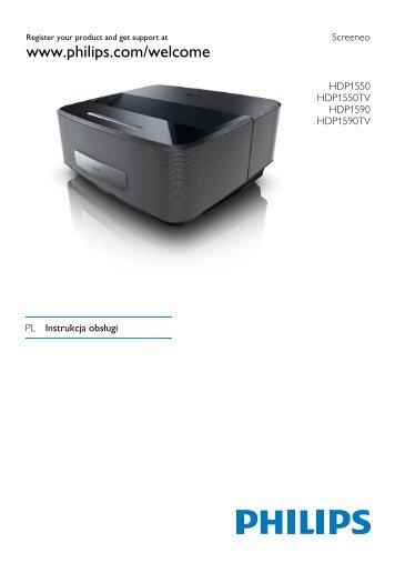 Philips Projecteur LED intelligent Screeneo - Mode d'emploi - POL