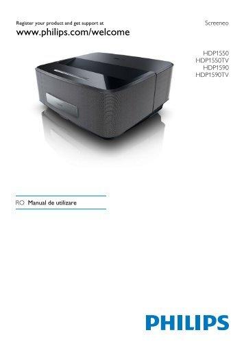 Philips Projecteur LED intelligent Screeneo - Mode d'emploi - RON