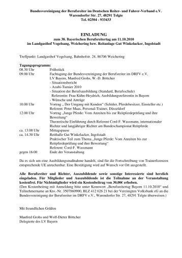 Tagungsprogramm - Dressur Aktuell
