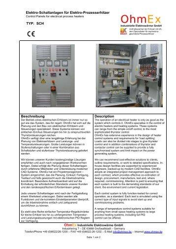 Datenblatt Elektro-Schaltschrank TYP SCH - OhmEx Industrielle ...