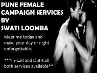 Passionate love with Pune Escorts- Swati Loomba