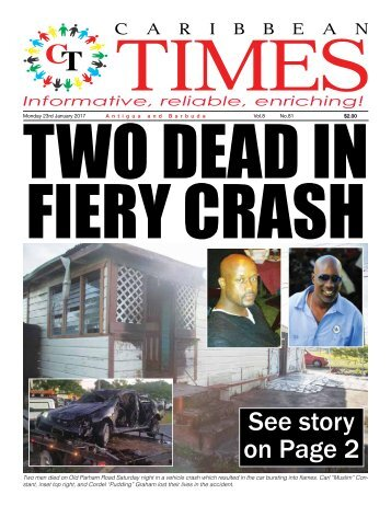 Caribbean Times 81st Issue - Monday 23rd January 2017
