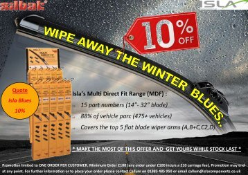 Isla Winter Blues 10% Promo leaflet (2)
