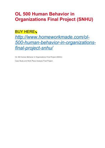 ol 500 final Click the button below to add the ol 500 human behavior in organizations final project to your wish list.