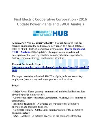 power plants and swot analysis of Oglethorpe power corporation - power plants and swot analysis, 2016 posted on november 1, 2016 265 views start a discussion report follow the report contains a.