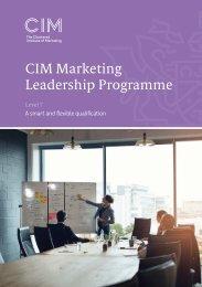 CIM Marketing Leadership Programme