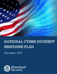 NATIONAL CYBER INCIDENT RESPONSE PLAN