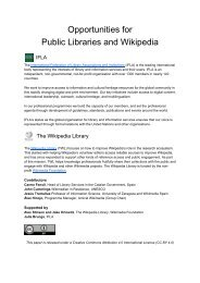 Opportunities for Public Libraries and Wikipedia
