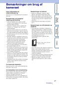 Sony MHS-FS1K - MHS-FS1K Istruzioni per l'uso Danese - Page 3