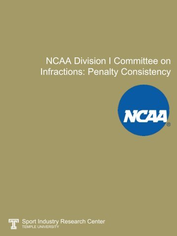 NCAA Division I Committee on Infractions Penalty Consistency