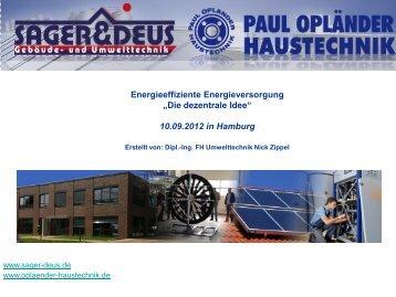 Die dezentrale Idee - Paul Opländer Haustechnik