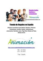 Catalogo de Regalos en España para Bodas, Bautizos, Comuniones