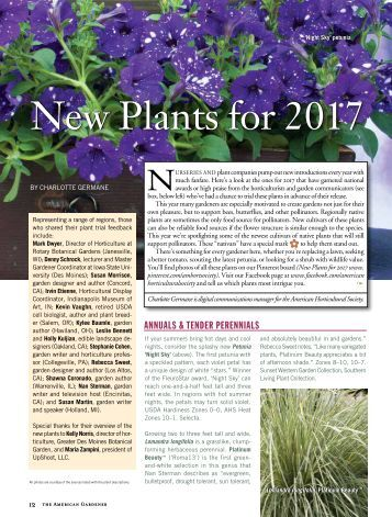 New Plants for 2017