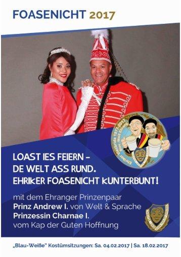 Karnevalsbroschüre 2017