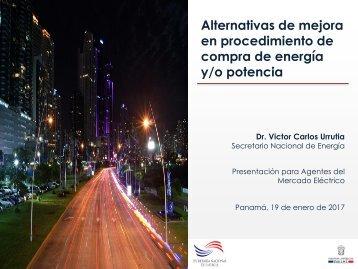Alternativas de mejora en procedimiento de compra de energía y/o potencia