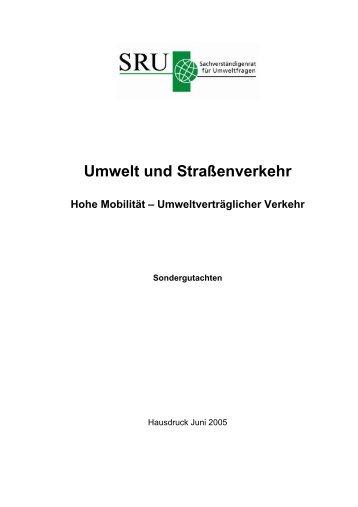 Umwelt und Straßenverkehr - Deutscher Fluglärmdienst eV