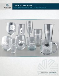 Glassware from Sutter's Mill Specialties