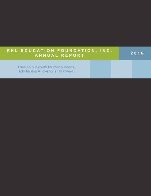 RKLEF 2016 Annual Report
