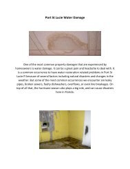 Port St Lucie Water Damage