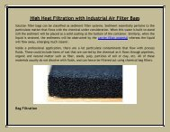 High Heat Filtration with Industrial Air Filter Bags