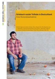 Grünbuch soziale Teilhabe in Deutschland Eine Bestandsaufnahme
