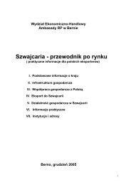 Wydział Ekonomiczno-Handlowy Ambasady RP w Bernie ... - Szu.pl
