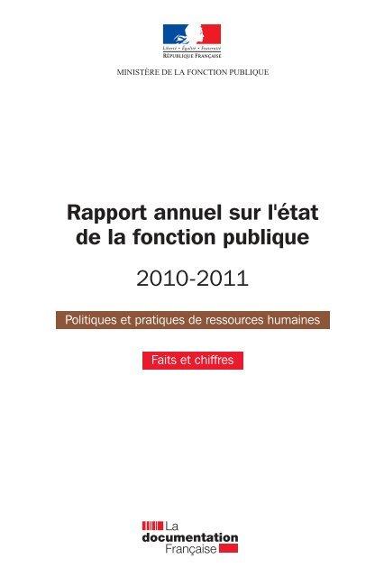Rapport Annuel De La Fonction Publique 2010 2011