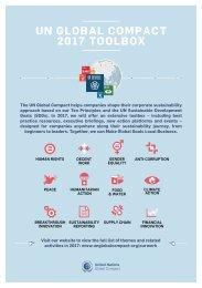 UN GLOBAL COMPACT 2017 TOOLBOX