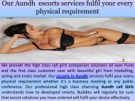 We Are The Best Escorts Services Provider In Pune