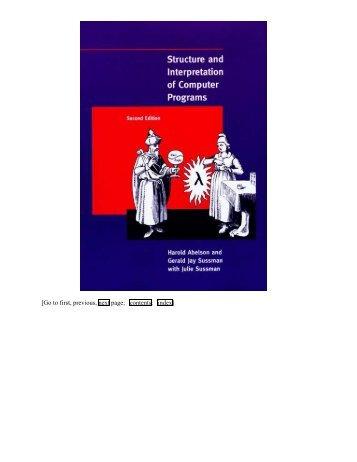 Structure and Interpretation of Computer Programs - MIT