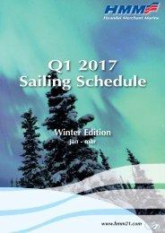 Q1 2017 Sailing Schedule