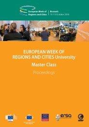 REGIONS AND CITIES University Master Class