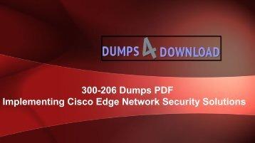 How To Pass Cisco 300-206 Dumps - Dumps4download