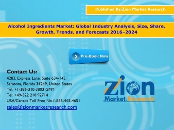 Alcohol Ingredients Market, 2016–2024