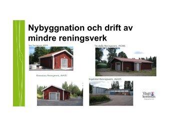 Nybyggnation och drift av mindre reningsverk