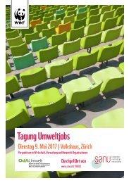 Tagung Umweltjobs, Dienstag 9. Mai 2017, Volkshaus, Zrücih