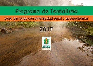 Programa de Termalismo 2017