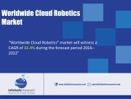 Worldwide Cloud Robotics Market