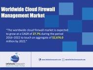 Worldwide Cloud Firewall Management Market