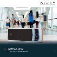 Intenta S2000: Intelligent 3D-Vision Sensor - Personenzählung, Zutrittskontrolle, Raumüberwachung