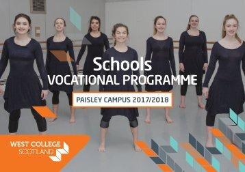 Vocational Schools Programmes 2017-18 - Paisley