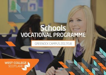 Vocational Schools Programmes 2017-18 - Greenock 200117