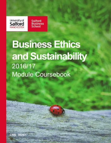 Business Ethics and Sustainability  2016/2017