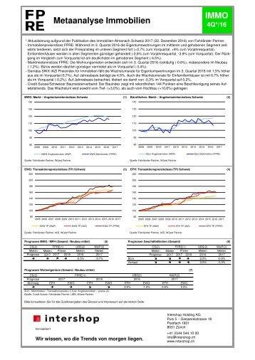 Metaanalyse Immobilien IMMO