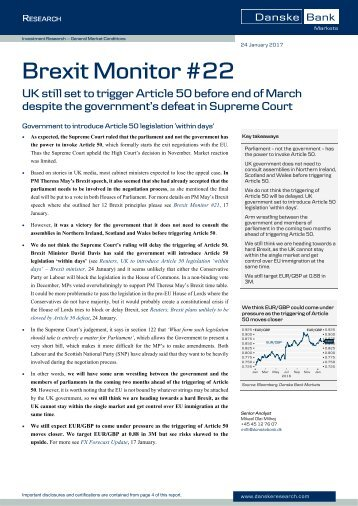 Brexit Monitor #22